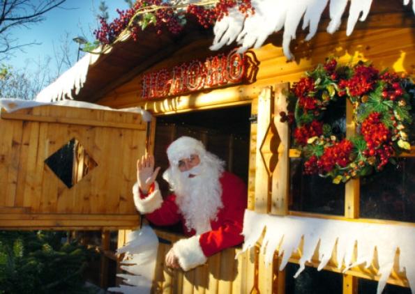 Me as Santa (photo from Sunderland Echo)