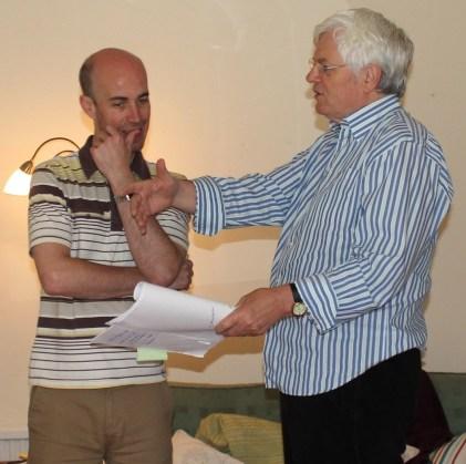 Paul & Tom in rehearsal