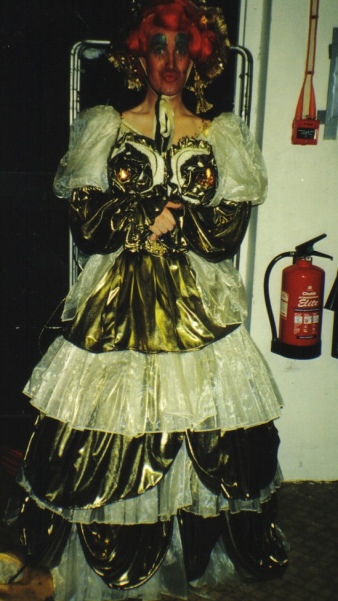 PD as Dame Trot, at the Novello Theatre many years ago