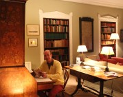 Paul Dunn working on a script draft, at Capheaton Hall (near the setting of the novel)