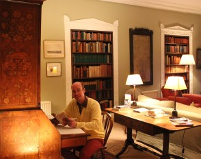 Paul Dunn working on a script draft, at Capheaton Hall (near the setting of the novel)