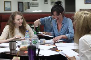 Script meeting/table read before the performance at the Seafarers