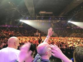 Singing Run For Home to the packed arena crowd