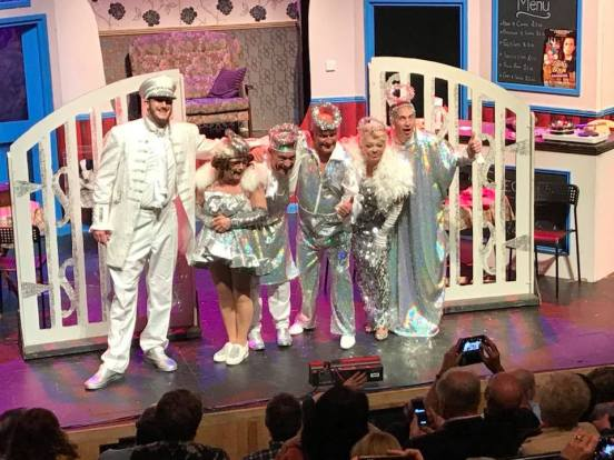 the cast at the curtain call