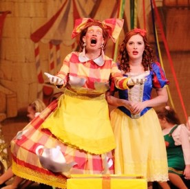 PD as Dame Dolly, w/ Lauren Waine as Snow White