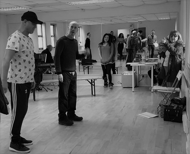 PD (centre) in rehearsals