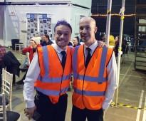 James Baxter and me backstage
