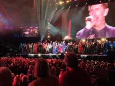 Singing Run For Home in front of 6,500 people, with Jimmy Nail and the band